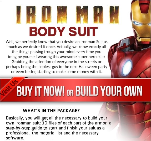 Iron Man Body Suit from Clickbank